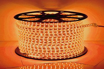 Светодиодная лента 2835 / 60L 220V ORANGE 7W / M IP65 (TT)
