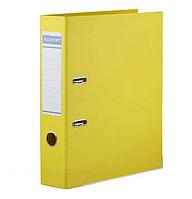 Папка регистратор Kuvert, А4, 75мм, ПВХ-ЕСО желтый