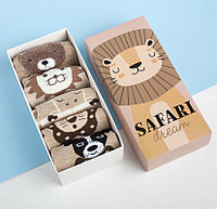 "Набор носков ""Safari dream"" 5 пар, 22-24 см, хлопок"