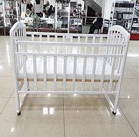 """Кровать детская Антел """"Алита-2"""" состав - дерево (береза), колесо-качалка"""