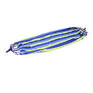 Гамак c деревянным креплением синий в полоску, фото 3