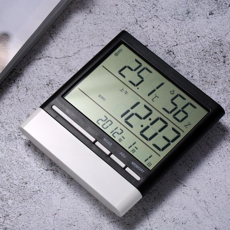 Метеостанция CX-318S (время / дата / температура / влажность / подсветка).Черно-белый. - фото 3