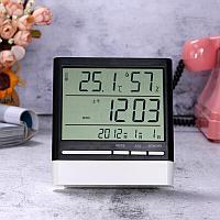 Метеостанция CX-318S (время / дата / температура / влажность / подсветка).Черно-белый.