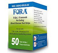 Тест-полоски для контроля глюкозы в крови FORA COMFORT для моделей (ACS042) в упаковке №50