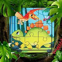 Пазл для детей «Динозавры», 9 деталей