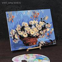 Картина по номерам на холсте с подрамником «Хризантемы» Клод Моне 40х50 см