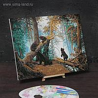 Картина по номерам на холсте с подрамником «Утро в сосновом лесу» И.И.Шишкин,К.А.Савицкий 40х50 см