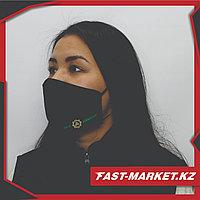 Однотонные многоразовые маски с логотипом компании (Вышивка)