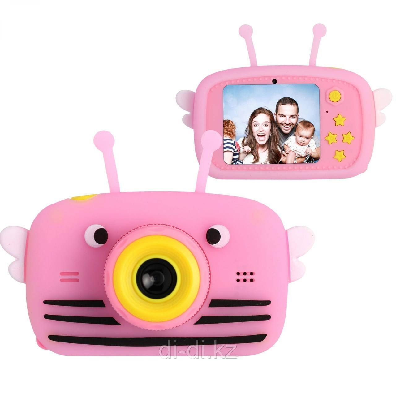 Детский цифровой фотоаппарат Пчелка Children's Fun Camera Bee
