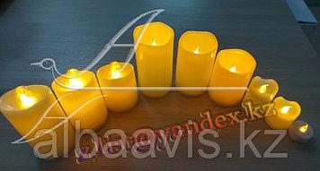 Свечи пластмасовые свечи светодиодные на батарейке, свеча на батарейке, ночник свеча, свечи без воска и огня.