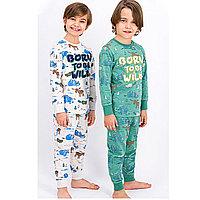 Пижама детская мальчик.* рост 122-128, Зеленый матовый