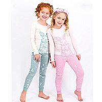 Пижама детская девичья* рост 122-128, Розовый