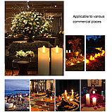 Свечи пластмасовые свечи светодиодные на батарейке, свеча на батарейке, ночник свеча, свечи без воска и огня., фото 3
