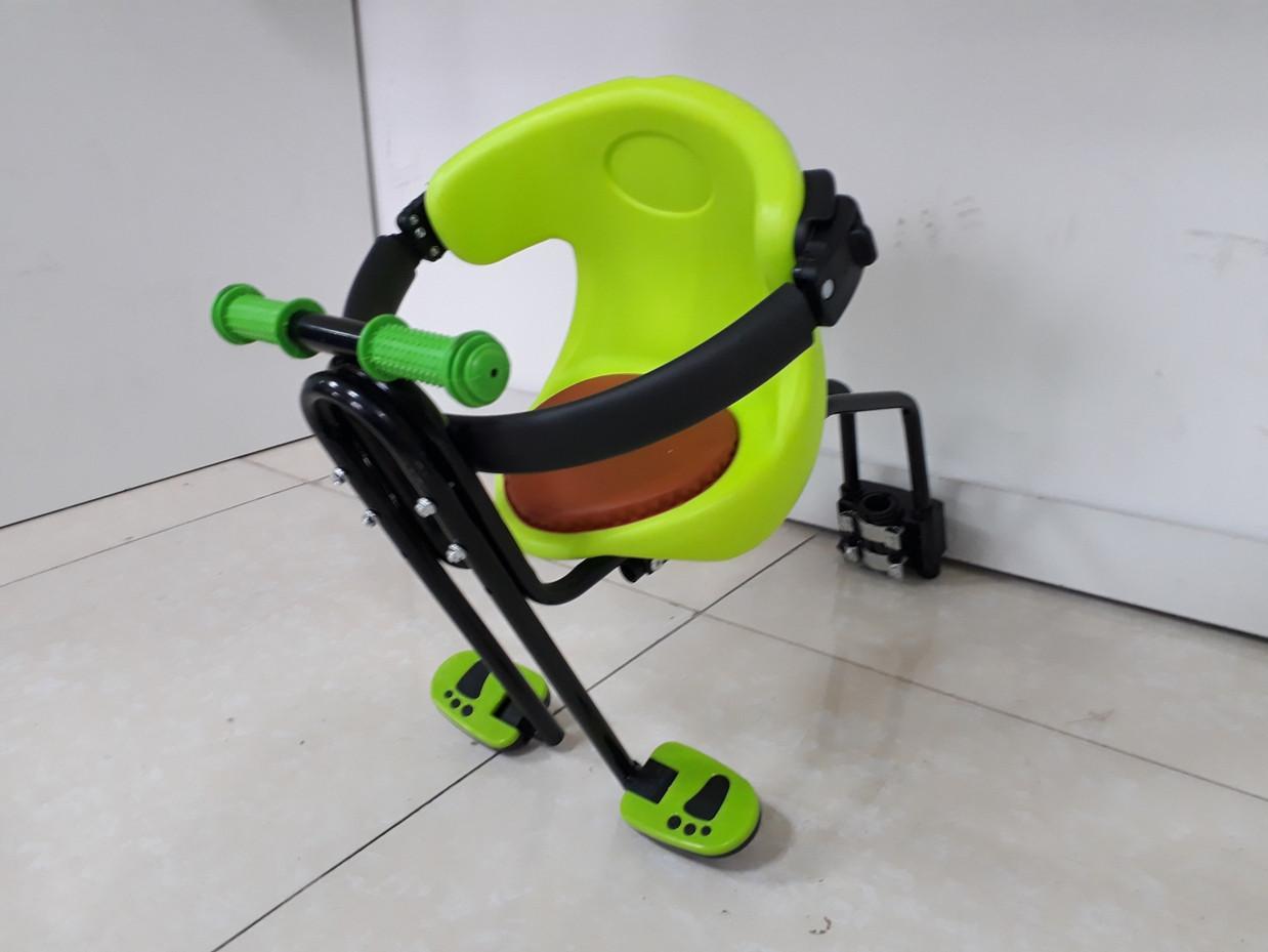 Детское сидение на велосипед. Крепится спереди на раму.