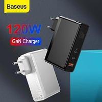 Мощное портативное зарядное устройство Baseus GaN 120 Вт (PD USB-A/USB-C) для ноутбуков и гаджетов