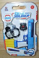 648-34 Пистолет полицейский с аксессуарами Police Cutie Soldier 40*27см