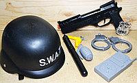 Полицейский набор S.W.A.T. В сетке черный 8 предметов, 18*15см, фото 1