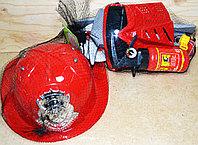 88349 Пожарный набор с каской в сетке 9 предметов 30*18см