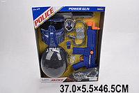 Детский игровой набор полицейского: Каска, маска, нож, бинокль, компас, жетон, автомат. Модель NO.34390
