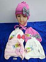 Шапочка весна-осень для новорождённой девочки. Фирма Artex