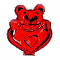 Грелка Мишка с сердцем фигурная солевая
