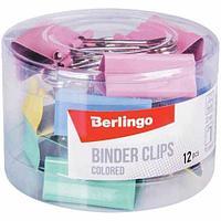 Зажим для бумаг BERLINGO, 32 мм, цветные (12 шт)
