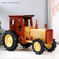 """Сувенир дерево """"Деревенский трактор"""" 16х11,5х25 см"""