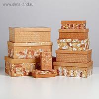 Набор подарочных коробок 10 в 1 «Крафтовый», 12 × 7 × 4 - 32.5 × 20 × 12.5 см
