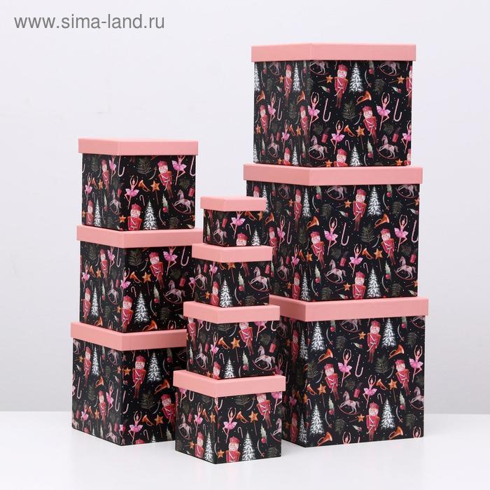 """Набор коробок 10 в 1 """"Щелкунчик"""", 26,5 х 26,5 - 8,5 х 8,5 см - фото 1"""