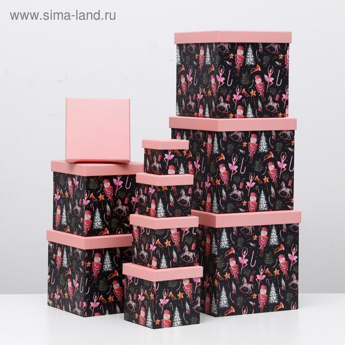 """Набор коробок 10 в 1 """"Щелкунчик"""", 26,5 х 26,5 - 8,5 х 8,5 см - фото 2"""
