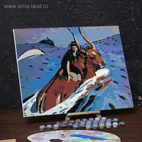 Картина по номерам на холсте с подрамником «Похищение Европы» Валентин Серов 40х50 см