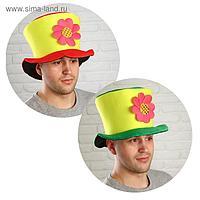 Карнавальная шляпа «Цилиндр», с цветком, цвета МИКС