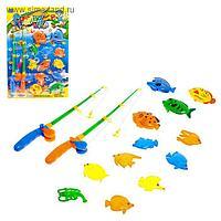 Рыбалка «Крупные рыбки»: 12 рыбок, 2 удочки