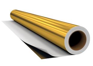 Металлизированная пленка золото-глянцевое (9281)  (1.22м х45,7м)