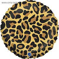 """Шар фольгированный 18"""" «Анималистика», пятнистый окрас, леопард, круг"""