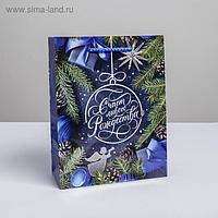 Пакет вертикальный ламинированный «Счастливого Рождества» MS, 18 × 23 × 8 см