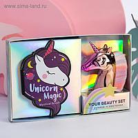 Набор: запечённые румяна и кисть для макияжа Unicorn Magic