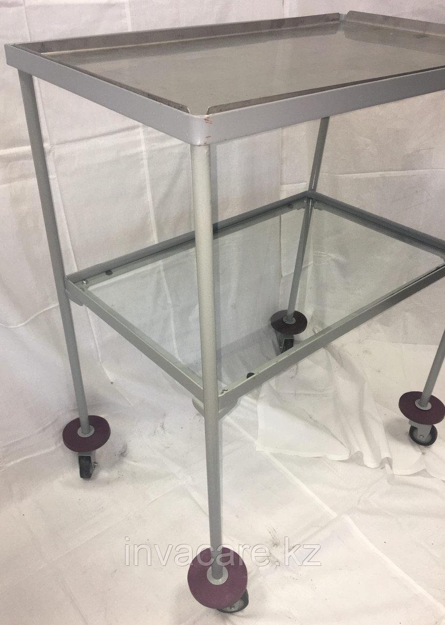 Столик инструментальный СИ-4 (2 полки, стекло и металл)