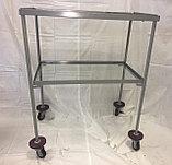 Столик инструментальный СИ-4 (2 полки, стекло и металл), фото 2