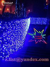 Гирлянды светодиодные, новогодние, уличные шторки, гирлянда занавес шторка; Длина: 2 - 6 метров