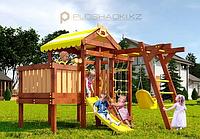 Детская площадка Савушка BABY-2 (play), с рукоходом, скалодромом, юиноклем, рулём, турником, горкой, фото 1
