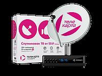 """Комплект спутникового телевидения """"ТЕЛЕКАРТА"""" с пакетом """"Премьер+"""" на 2 года!!!"""