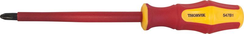 Отвертка стержневая диэлектрическая крестовая VDE 1000V, PH1x80 мм SDPI180
