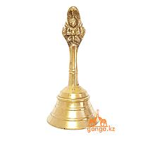 Колокольчик (латунь), высота - 12 см, диаметр колокольчика - 5.5 см