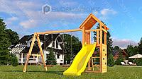 Детская площадка Савушка Мастер 8, с песочницей, сеткой-лазалкой.