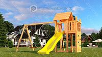 Детская площадка Савушка Мастер 9, с песочницей, сеткой-лазалкой, столиком.