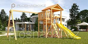 """Детская площадка Савушка Мастер 2, с качелями """"Гнездо""""."""