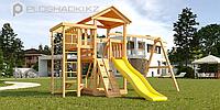 """Детская площадка Савушка Мастер 3, с качелями """"Гнездо""""., фото 1"""