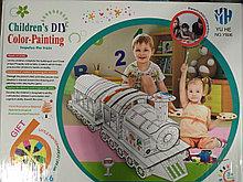 Игровой домик раскраска Поезд