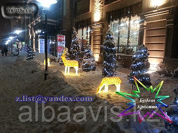 Cветодиодные уличные 3D фигуры акриловые светящиеся, Светодиодные фигурки